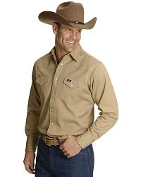 Wrangler Twill Work Shirt - Tall at Sheplers
