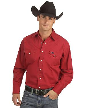 Wrangler Twill Work Shirt - Tall