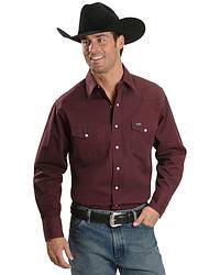 Wrangler Twill Work Shirt - Tall at Sheplers