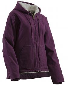 Berne Women's Washed Sherpa-Lined Hooded Coat