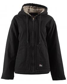 Berne Women's Washed Sherpa-Lined Hooded Coat - 3X & 4X
