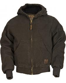 Berne Youth Kids' Washed Sherpa-Lined Hooded Jacket