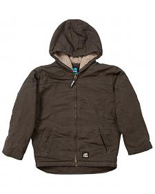 Berne Youth Boys' Washed Sherpa-Lined Hooded Jacket