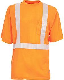 Berne Hi-Visibility Short Sleeve Pocket T-Shirt - 2XT, 3XT and 4XT
