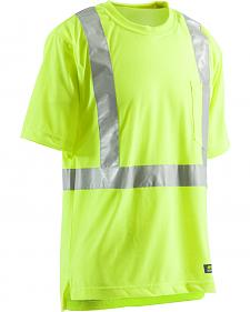 Berne Hi-Visibility Short Sleeve Pocket T-Shirt - 5XT and 6XT
