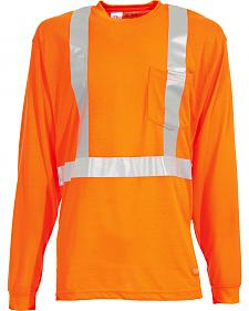 Berne Hi-Visibility Long Sleeve Pocket T-Shirt