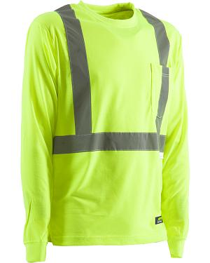 Berne Hi-Visibility Long Sleeve Pocket T-Shirt - 2XT, 3XT, and 4XT