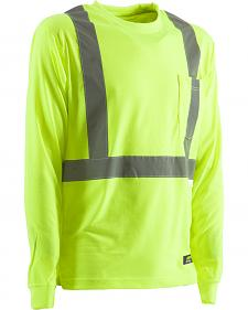 Berne Hi-Visibility Long Sleeve Pocket T-Shirt - 5XT and 6XT