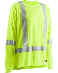 Berne Hi-Visibility Long Sleeve Pocket T-Shirt - Tall Sizes