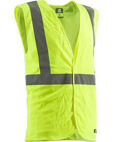 Berne Yellow Hi-Visibility Economy Vest
