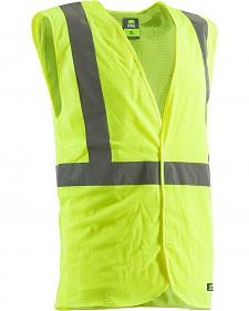 Berne Yellow Hi-Visibility Economy Vest - Big and Tall