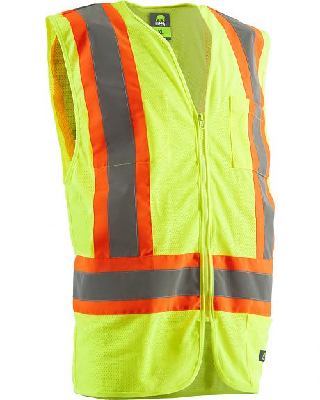 Berne Hi-Visibility Multi-Color Vest - 5XL and 6XL
