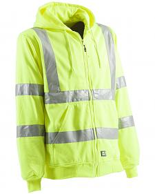 Berne Yellow Hi-Visibility Lined Hooded Sweatshirt - 3XT and 4XT