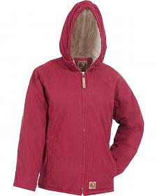 Berne Toddler Girls' Washed Sherpa-Lined Hooded Jacket