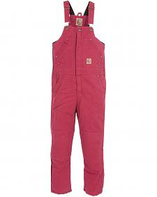 Berne Kids' Bark Washed Insulated Bib Overalls