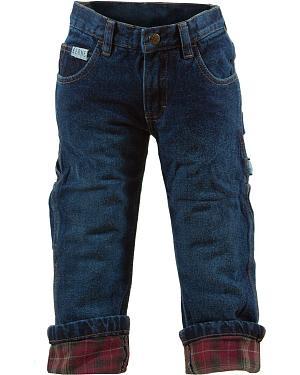 Berne Junior Vintage Denim Flannel-Lined Carpenter Jeans