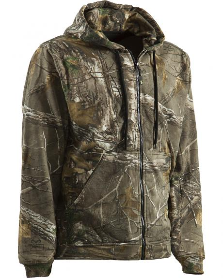 Berne Camouflage All Season Hooded Thermal Lined Sweatshirt - 3XL and 4XL