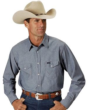 Wrangler Chambray Work Shirt - Tall