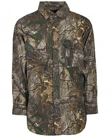 Berne Stalker Camo Button Down Shirt - 3XL and 4XL