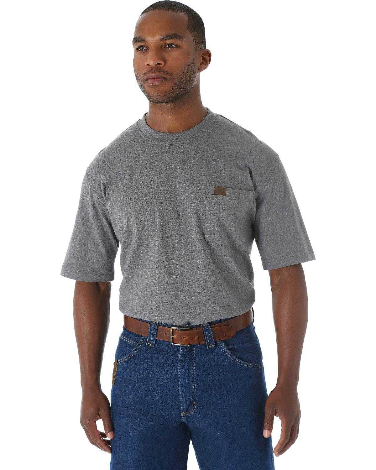 Wrangler Men 39 S Riggs Short Sleeve Pocket T Shirt Big And