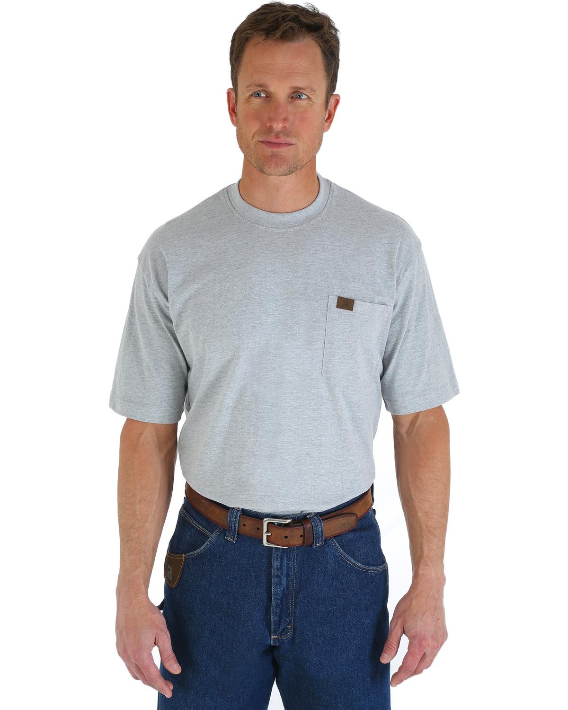 Wrangler men 39 s riggs short sleeve pocket t shirt big and for Men s big tall shirts