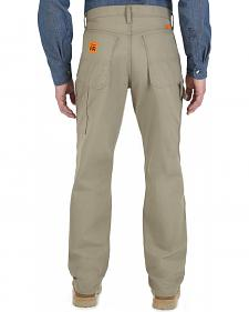 Wrangler Dark Khaki Flame Resistant Carpenter Pants