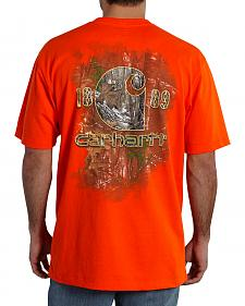 Carhartt Men's Camo Graphic Logo T-Shirt