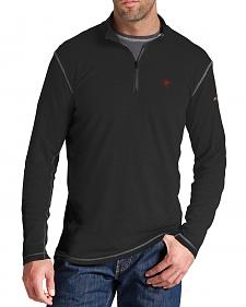 Ariat Flame Resistant Black Polartec 1/4 Zip Baselayer Shirt - Big and Tall