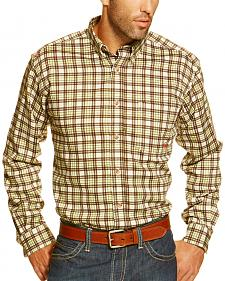 Ariat Men's Fire-Resistant Buford Plaid Long Sleeve Work Shirt