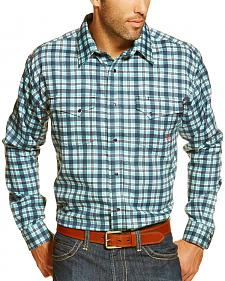 Ariat Men's Fire-Resistant Trenton Plaid Long Sleeve Work Shirt