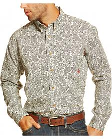 Ariat Men's Fire-Resistant Crane Print Long Sleeve Work Shirt