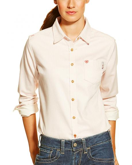 Ariat Women's Fire-Resistant Stripe Long Sleeve Work Shirt