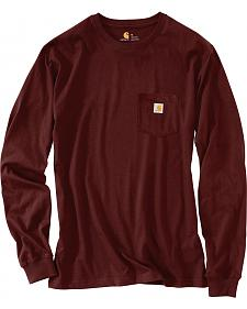 Carhartt Men's Logo Graphic Long Sleeve Pocket T-Shirt