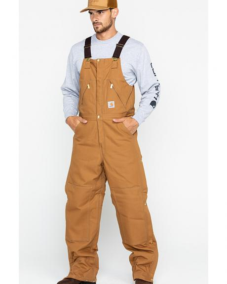Carhartt Zip-to-Waist Bib Overall - Reg, Big. Up to 50