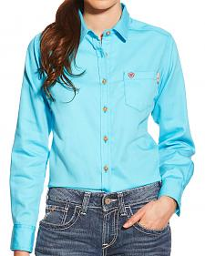 Ariat Women's Turquoise FR Block Work Shirt