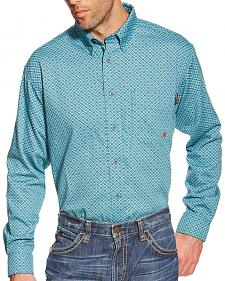 Ariat Blue Truman FR Print Work Shirt
