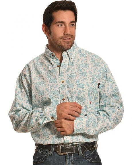 Ariat Men's Paisley Crane FR Work Shirt