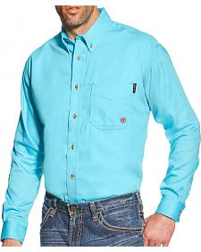 Ariat Turquoise Men's Block FR Work Shirt