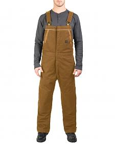 Walls Men's Brown Frost Blizzard Pruf Insulated Bib Overalls