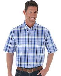 Wrangler Blue Ridge Plaid Shirt at Sheplers