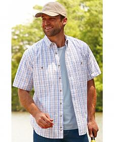 Wrangler Men's Plaid Wrinkle Resist Western Shirt