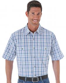 Wrangler Men's Plaid Wrinkle Resist Western Shirt - Big and Tall