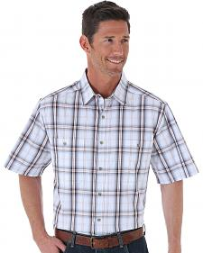 Wrangler Men's Moisture-Wicking Plaid Short Sleeve Shirt - Big & Tall