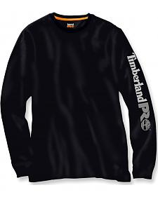 Timberland PRO Men's Black Base Plate Wicking Logo Long Sleeve T-Shirt