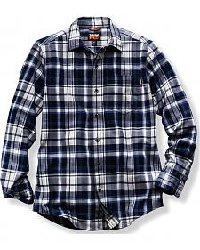 Timberland PRO Men's Navy Plaid Flannel Work Shirt
