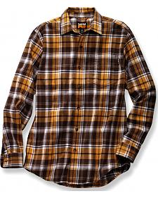 Timberland PRO Men's Brown Plaid Flannel Work Shirt