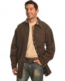 Forge Workwear Men's Chocolate Lined Shirt Jacket