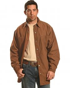 Forge Workwear Men's Brown Lined Shirt Jacket