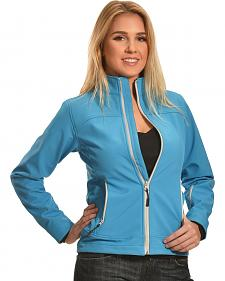 Cowgirl Legend Women's Turquoise Bonded Softshell Jacket