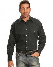 Crazy Cowboy Men's Black Western Work Shirt
